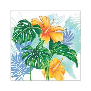 10 X 10 Lauren Roth Wall Art, Monstera Hibiscus (Unsigned)