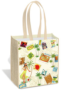 Island Tote Bag - Stamped with Aloha