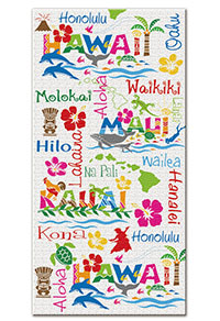 Beach Towel, Hawaiian Adventures