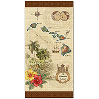 Beach Towel Islands of Hawaii Tan
