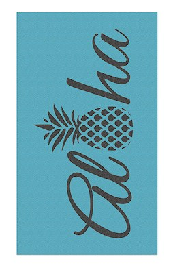Oversized Beach Towel Aloha Pineapple-Blue