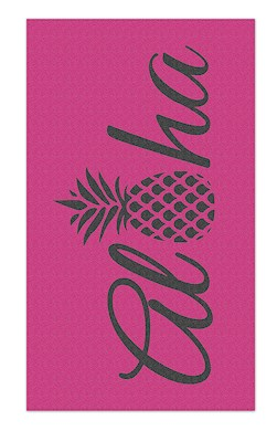 Oversized Beach Towel Aloha Pineapple-Pink