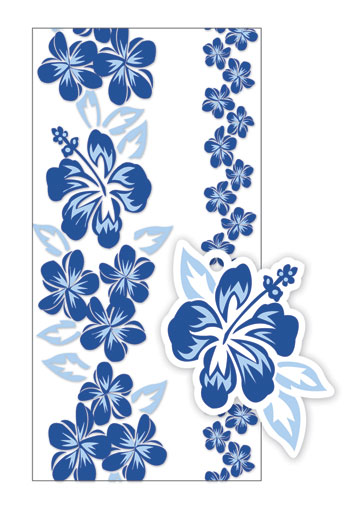 Candy Lei Kit 5-pk, Hibiscus/Plumeria Panel Blue