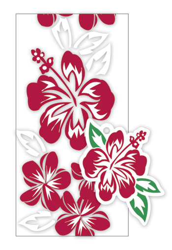 Candy Lei Kit Hibiscus-Plumeria Panel Red