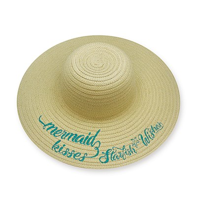 Embroidered Sun Hats, Mermaid Wishes