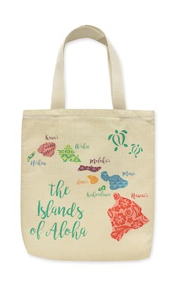 Woven Totes The Islands of Aloha