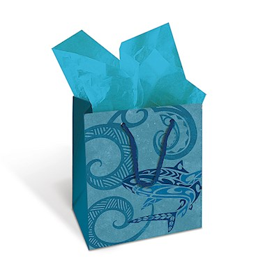 Small Gift Bag, Tribal Shark