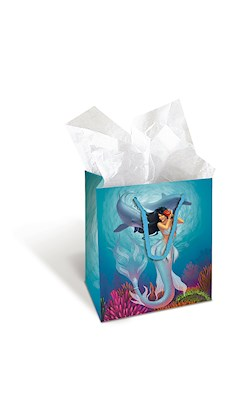 Gift Bag - Island Heritage Mermaids Sunny/Jewel - Small
