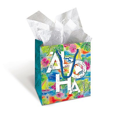 Gift Bag - Tropical Aloha - Medium