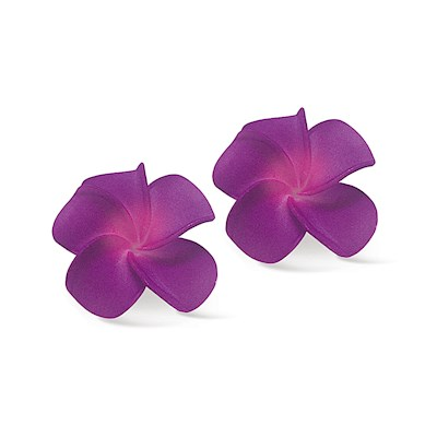 Foam Baby Plumeria Clips - Purple/Pink
