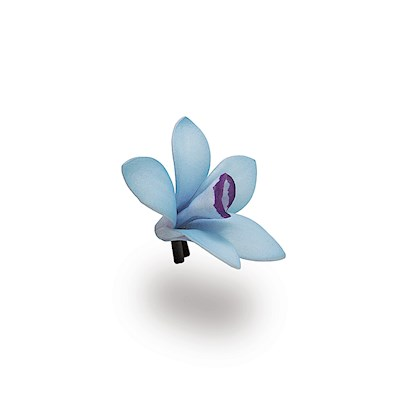 Foam Orchid Clip, Blue & Purple