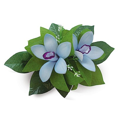 Foam Cluster Orchid Clip, Blue & Purple