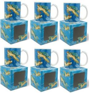 10 oz. Boxed Mug, Tropical Turtles 6pk - Deals by The Case