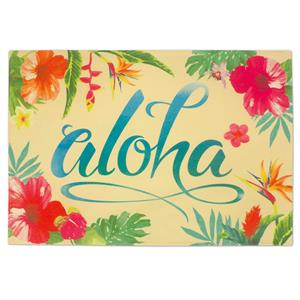 Aloha Floral Reversible Fabric Placemat