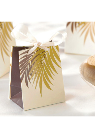 Favor Gift Bags, Palm Frond Cream (6-pack)