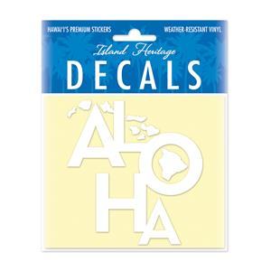 Decal Small Oblong, Tropical Aloha