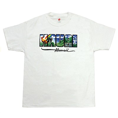 Island T-shirts Kaua- White by Eddy Y - 3XL