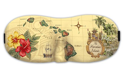 Island Eye Mask, Islands of Hawaii - Tan