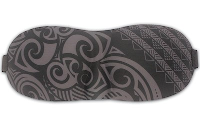 Island Eye Mask, Tribal - Gray