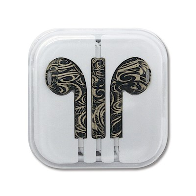 Ear Buds, Tribal Tattoo