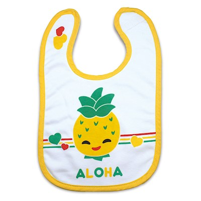 Keiki Kreations Baby Bib, Island Yumi Friends Pineapple Pals
