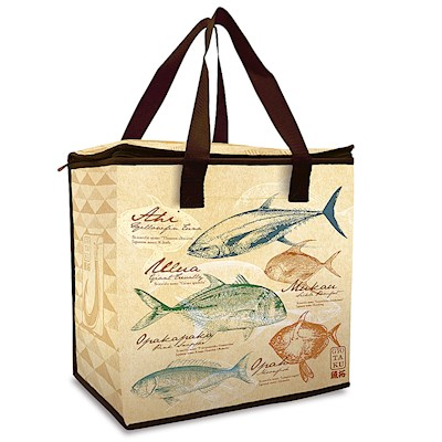 Insulated Shopping Tote, Gyotaku