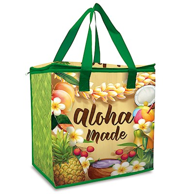 Insulated Non-Woven Shopping Tote - Aloha Made