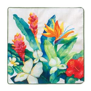 Island Garden Bird of Paradise 18 X 18 Pillow Cover