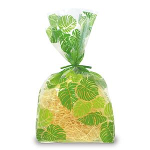 Monstera Lei  Large Cellophane Bags