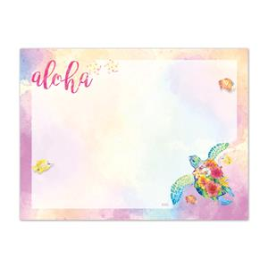 Rect. Aloha Stick'n Notes 50-sht, Watercolor Honu