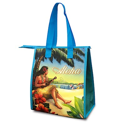 Small Insulated Tote, Vintage Hawaii