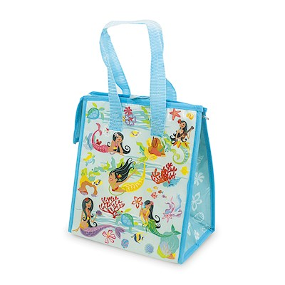 INSULATED LUNCH BAG, ISLAND HULA MERMAIDS