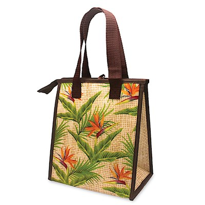 Small Insulated Tote, Bird of Paradise