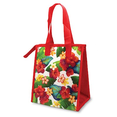 Small Insulated Tote, Island Blossoms