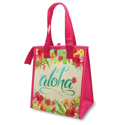 Small Insulated Tote, Aloha Floral