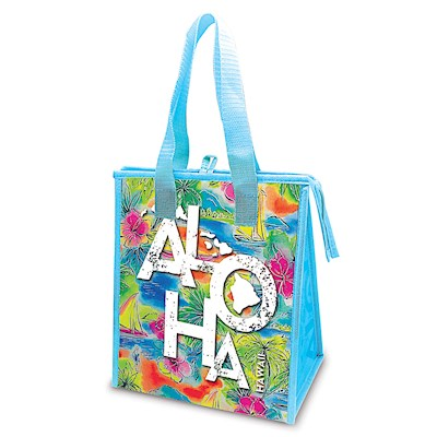 Small Insulated Tote, Tropical Aloha