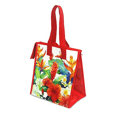 Small Insulated Tote, Island Garden