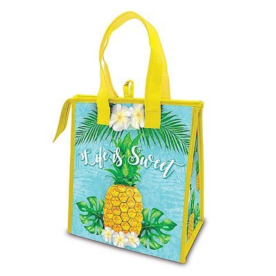 Insulated Lunch Tote Life is Sweet (Pineapple)