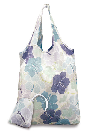 Foldable Tote, Modern Hibiscus