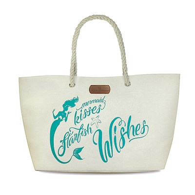 Rope Handle Beach Tote, Mermaid Wishes