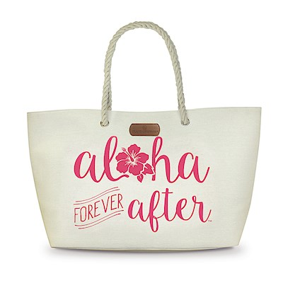Rope Handle Beach Tote, Aloha Forever After