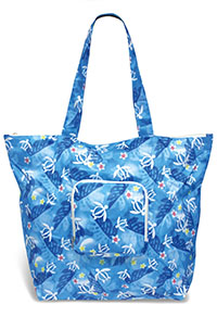 Deluxe Foldable Tote, Honu Floral