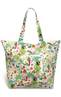 Deluxe Foldable Tote, Island Hula Honeys