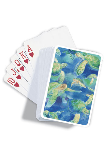 Playing Cards Swimming Honu