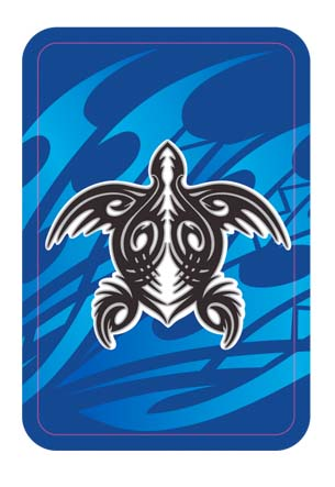 Playing Cards Tribal Honu