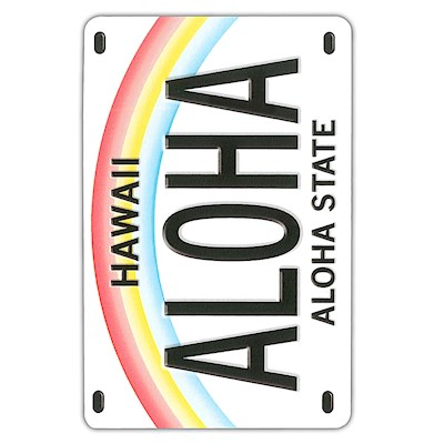 Playing Cards License Plate Aloha