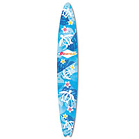 Emery Board Surfboard - Honu Floral Hawaii