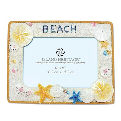 Coastal Shell Beach Hand-Painted Resin Frames