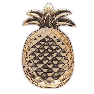 Porcelain Gold Pineapple Ceramic Decorative Plate