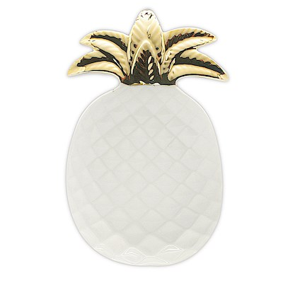 Porcelain Pearl White Pineapple Decorative Plate